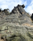 Bergstation, der umstrittene neue Gipfel, Blick in den Exquisitweg