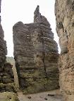 Schiefe Zacke, aufgenommen aus der Scharte zwischen Chinesichem Turm und Sonnenwendstein