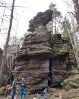 Klettergipfel Setzling - Blick in die Südostwand