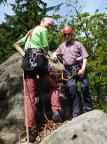 Auguste, Steffen Große und Peter Balke 2013 auf dem Gipfel