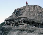 Polenztalwächter, Alter Weg, Ausstieg auf den Gipfelkopf