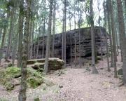 Blick von der Giesensteinwand zum Brandstein bei Berggießhübel