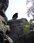 Nordwand der Narrenkappe mit dem namensgebenden Gipfelkopf