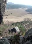 Klamotte am Pfaffenstein, ein durch Felssturz entstandener Gipfel