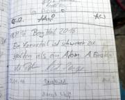 Vierkant, Erzgebirgsgrenzgebiet, Gipfelbuchspruch für 2016