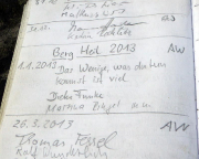 Kleiner Zschirnsteinwächter, Gipfelbuchspruch für das Jahr 2013