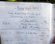 Prinz Karneval, Kleiner Zschand, Gipfelbuchspruch für das Jahr 2011