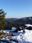 Goldsteigaussicht, Blick in den winterlichen Großen Zschand