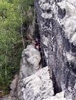 Backofen, Gratweg II, eine schöne lange und fast alpine Bergfahrt