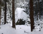 Herbertfels am Quenenweg im Winter