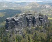 Winterstein, auch Hinteres Raubschloss, gesehen von Pechofenspitze