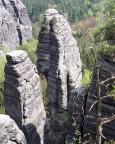 Blick von der Raaber Scheibe auf Raaber Säule und Raaber Turm