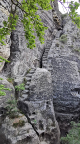 Der klassische heute Kletterweg Mardertelle an der Steinschleuder