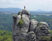 Der Mönch, hier aufgenommen aus der Felsenburg Niederrathen