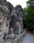 Der Sieberturm, einer der Felsen der Basteibrücke