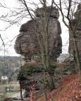 Der Tiedgestein, Anblick vom Mönch beim Zustieg zur Bastei