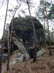 Honigsteinscheibe, unverkennbarer Hinweis aufs Erosionsgebirge