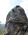 Gamrigscheibe, Alter Weg III, auf den letzten Metern zum Ausstieg