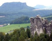 Eine andere Sicht auf den Mönch, hier vom Gipfel des Plattensteins