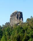 Talwächter, Anblick beim Zustieg zur Bastei, rechts der Pfeilerweg