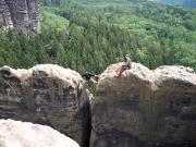 Breite-Kluft-Wand, Bergweg III, der Weg zum Gipfelbuch