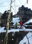 An der nördlichen Grenze des Gebietes, Zurückesteig im Winter