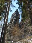 Breite Kluft Wand im Aufstieg durch die Breite Kluft ab Elbleitenweg