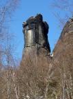 Teufelsturm bei Schmilka, einer der schwersten Gipfel des Gebirges