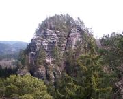 Kleiner Lorenzstein, aufgenommen vom Rabentürmchen