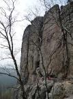 Zyklopenmauer, Plattenwand, Blick auf die Wand vom Touristenpfad