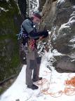 Heidewand, Versuch einer Winterbegehung, sie scheitert an der Reibung