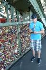 Liebesbrücke in Köln, hier ist der Geocache in einem der Schlösser