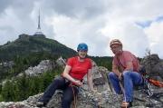 37 - Auf dem Gipfel des Breithorns am Fuße des Jested bei Liberec