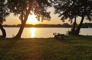 38 - Sonnenuntergang am Schwielochsee, Sommerabend 24. Juli 2019, der bisher heißeste Tag der Wetteraufzeichnungen