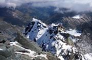 55 - Blick vom Großglockner auf den Gipfelgrat des Kleinglockners