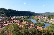 67 – Blick von der Burg Wertheim auf Wertheim und Kreuzwertheim am Main