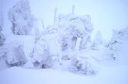74 – Bizarre Eis- und Schneegebilde auf dem Kamm des Riesengebirges