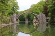 81 - Rakotzbrücke im sehenswerten Rhododendronpark Kromlau