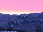 3 - Sonnenaufgang bei klirrender Kälte im Elbsandsteingebirge