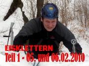 Intro des Berichtes über die erste Eisklettertour 2010