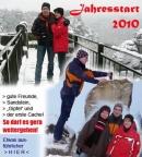 Jahresstart 2010 mit Eis und Schnee in Dresden und auf der Bastei