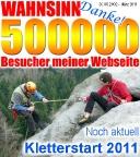 Kletterstart 2001 und 500000 Besucher auf Quackensturm.de
