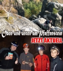 Ein toller Klettertag auf und in einer Höhle unter dem Pfaffenstein
