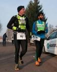 Ultramaraton Zielonogórski Nowe Granice, mit Malik Abdullah bei km 24