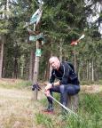 rennsteig-nonstop 2018, an der Brandleite bei Oberhof
