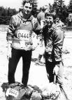 Bei meinem ersten Rennsteiglauf gemeinsam mit Steffen Große am Grenzadler