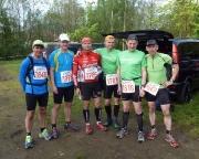 Zittauer Gebirgslauf, vor dem Start über 35 km im April 2014