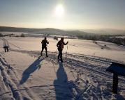 Skilanglauf bei Hinterhermsdorf, Sächsische Schweiz