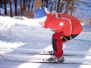 Max mit acht Jahren - verdammt gern beim Skilanglauf unterwegs
