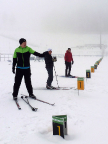 Langlauf der besonderen Art: im Biathlon-Stadion Oberhof, Schießtraining ohne Waffen